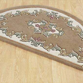 Royal Aubusson Half Moon Rugs In Beige Cream