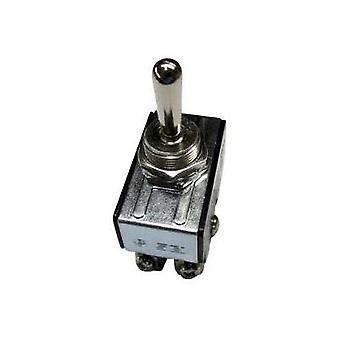 Toggle switch 250 Vac 10 A 2 x Off/On SCI R13-28F-06 latch 1 pc(s)