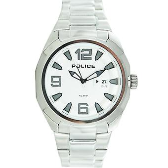 Police mens watch wristwatch stainless steel analog PL. 13836JS / 04 M