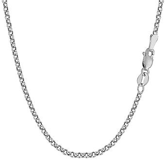 14 k White Gold ronde Rolo Link Chain ketting, 2,3 mm