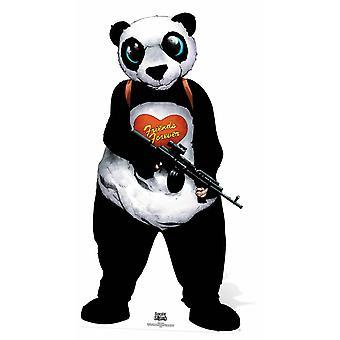 Panda mand selvmord Squad tegneserie kunst Lifesize pap påklædningsdukke / Standee / står