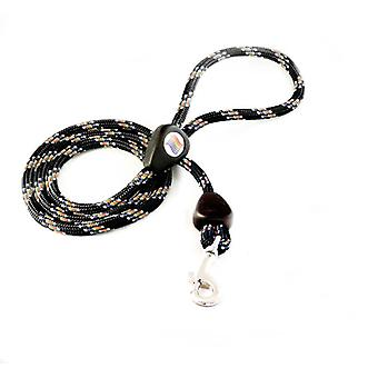Outhwaites Rainbow Rope Lead Black 150cm X 9mm