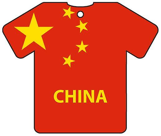 Personlig Kina flagg Jersey bil Air Freshener