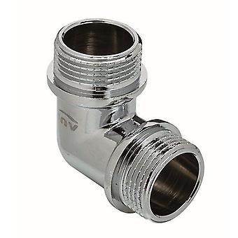 Chrome Plated Brass Male Elbow Pipe Fitting Connection MxM 3/8