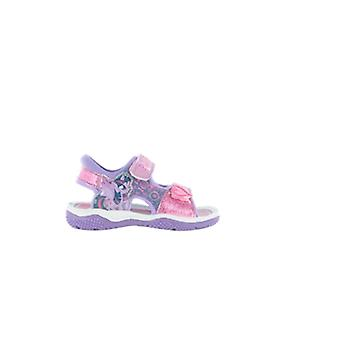 Girls My Little Pony Pink & Lilac Glitter Sport Sandal Beach Walking Childrens Shoes 5-10