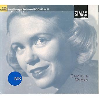 Camilla væger - store norske kunstnere 1945-2000, Vol. 3: Camilla væger [CD] USA import