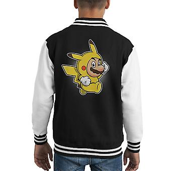 Pika Anzug Super Mario Pikachu Pokemon Kid Varsity Jacket
