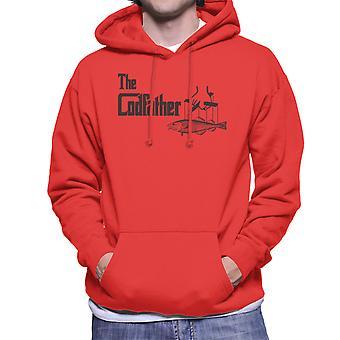 O padrinho Codfather pescar homens logotipo do capuz moletom