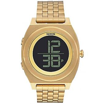 Nixon The Time Teller Digi SS Watch - Gold