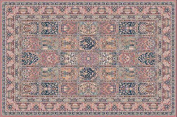 Nain 1258-676 A patchwork of muted green, russet, gold and navy  Rectangle Rugs Traditional Rugs