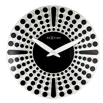 Nextime Wall Clock 43 Cm Ø Glass Black Dreamtime (Home , Decoration , Clocks)