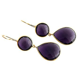 Amethyst earrings Amethyst earrings jewels silver gold plated