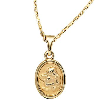Kids charms, Angel guardian angel 333 gold yellow gold matte finish carrier