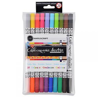Manuscript Callicreative Duo Tipped Markers 20 Assorted Colours