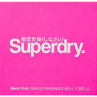 Superdry neón Pink Eau de Cologne 25ml EDC Spray