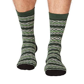 Adrian men's super-soft bamboo crew socks in forest | By Thought