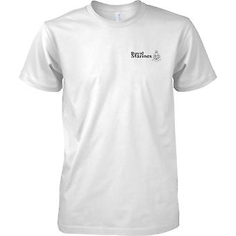 Lizenzierte MOD - Royal Marines Globe and Laurel - Elite Commando Unit - Herren Brust Design T-Shirt