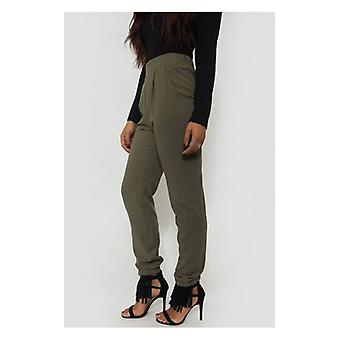 The Fashion Bible Khaki Tapered Trousers