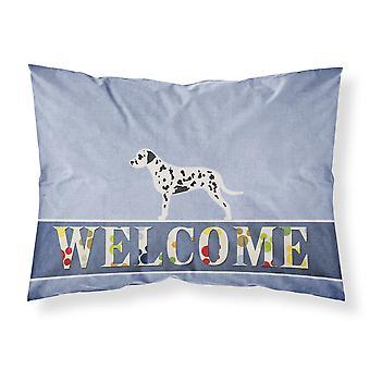 Dalmatian Welcome Fabric Standard Pillowcase