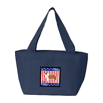 USA-patriotischen Australian Shepherd Dog-Lunch-Bag