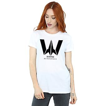 DC Comics Women's Justice League Movie Wayne Aerospace Boyfriend Fit T-Shirt