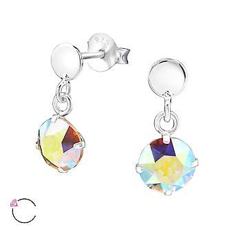 Geometric crystal from Swarovski® - 925 Sterling Silver Ear Studs - W32834X