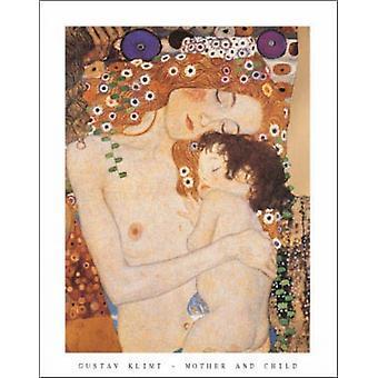 Drei Lebensalter der Frau - Mutter und Kind c1905 (detail) Poster von Gustav Klimt (22 x 28) drucken