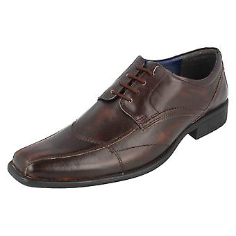 Mens Bruno Donnari Smart Formal Shoes Black Leather