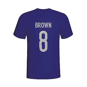 Скотт Браун Шотландии герой футболку (ВМС) - дети