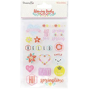 Dovecraft Blooming Lovely Clear Stickers-  DCSTK033