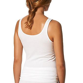 Mey Noblesse White Cotton Sleeveless Top 25102