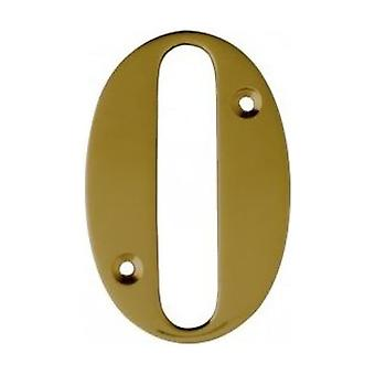 UAP House Door Numerals Numbers - Gold Number 0