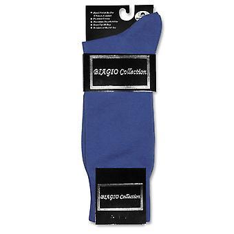 Biagio Solid Herren Baumwollkleid 1 Paar Socken