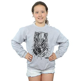 Marvel flickor Black Panther Spray Headshot Sweatshirt