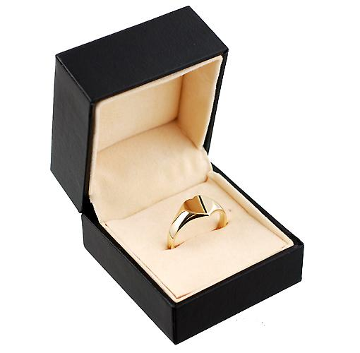9ct Gold 9x9mm ladies plain heart shaped Signet ring