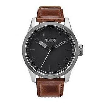 Nixon The Safari Leather Silver / Black / Brown (A9752455)