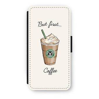 iPhone 7 Flip Case - But first coffee