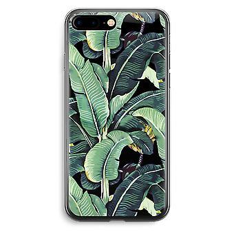 iPhone 7 Plus Transparent Case (Soft) - Banana leaves