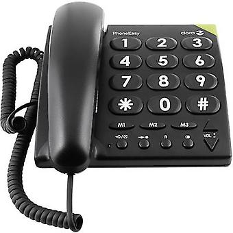 Corded Big Button doro PhoneEasy 311c Visual call notification, Hands-free