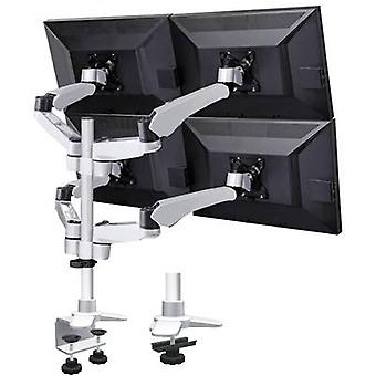 SpeaKa Professional Flex 4-way monitor holder, table mounting with pneumatic with C-clamp