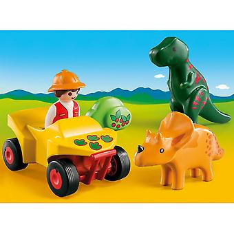 Playmobil 1.2.3 Explorer with Dinos