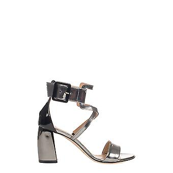 Marc Ellis women's MA3048SILVER silver leather sandals