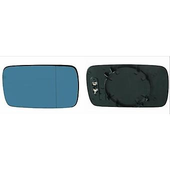 Right / Left Blue Mirror Glass (heated) & Holder for BMW 7 Series 1994-2001
