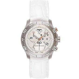 Traser H3 Ladytime silver chronograph ladies watch T7392. S5H. G1A. 08 / 100353