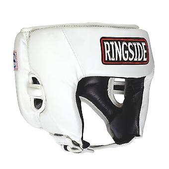 Ringside Competition Boxing Headgear Without Cheeks - White