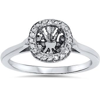 خاتم الخطوبة الماس شبه جبل ك 14 الذهب الأبيض