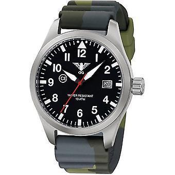 KHS horloges mens watch Airleader staal KHS. VOOR HET EERST UITGEZONDEN. DC3