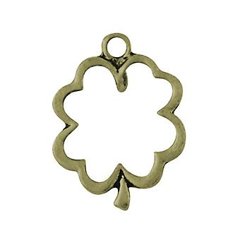 Packet 20 x Steampunk Antique Bronze Tibetan 24mm Clover Charm/Pendant ZX14270