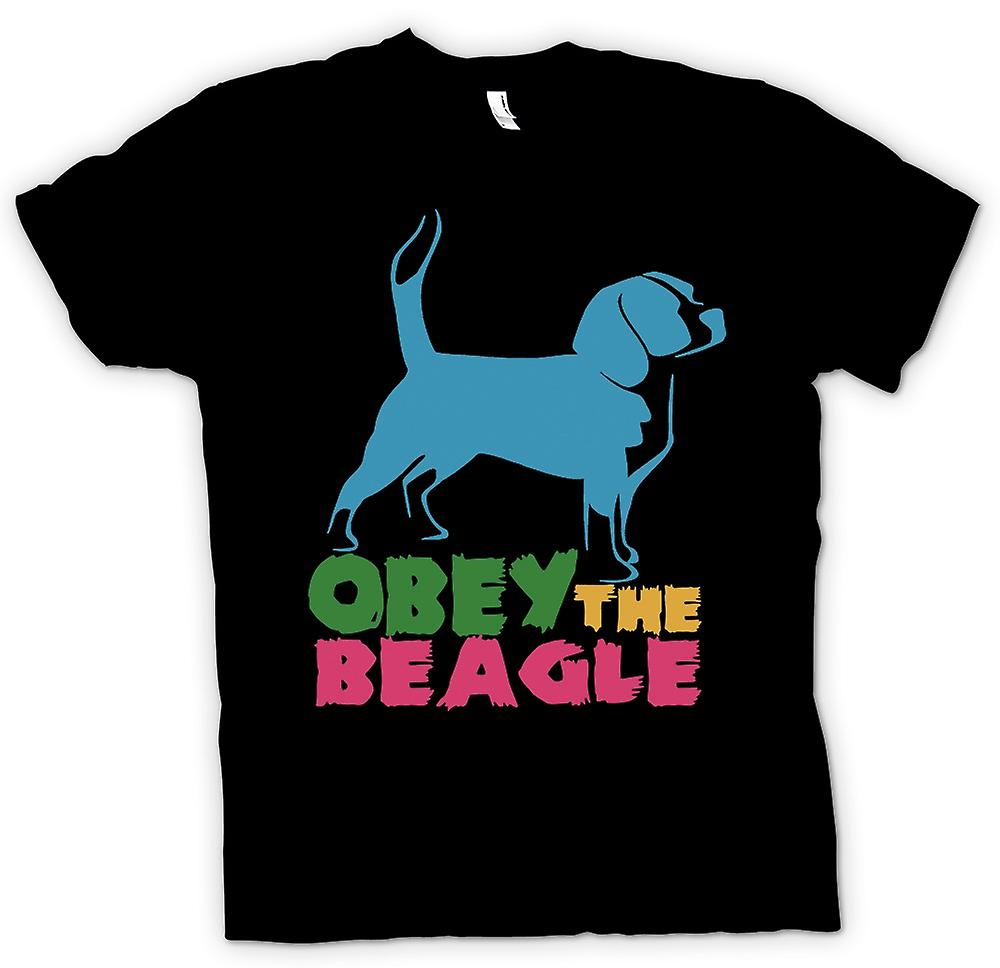 Mens T-shirt - gehorchen der Beagle