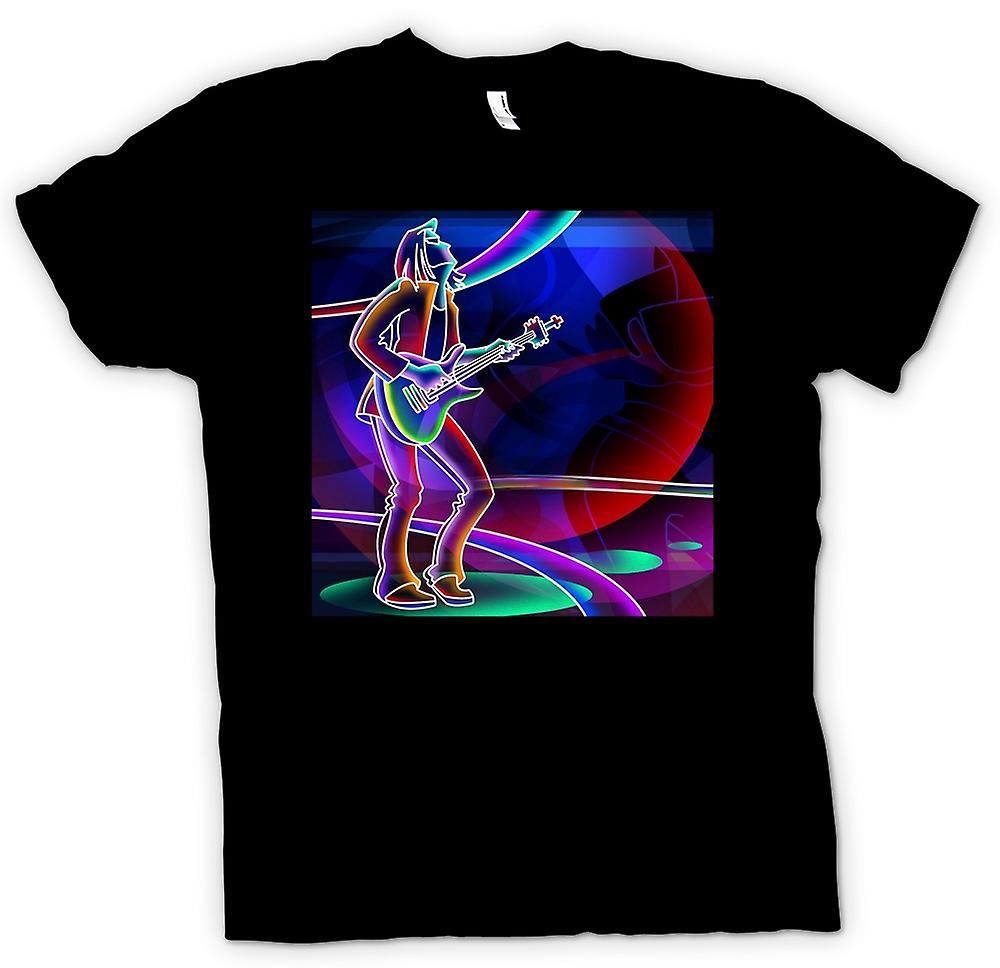 Womens T-shirt - Neon Rock Guitarist